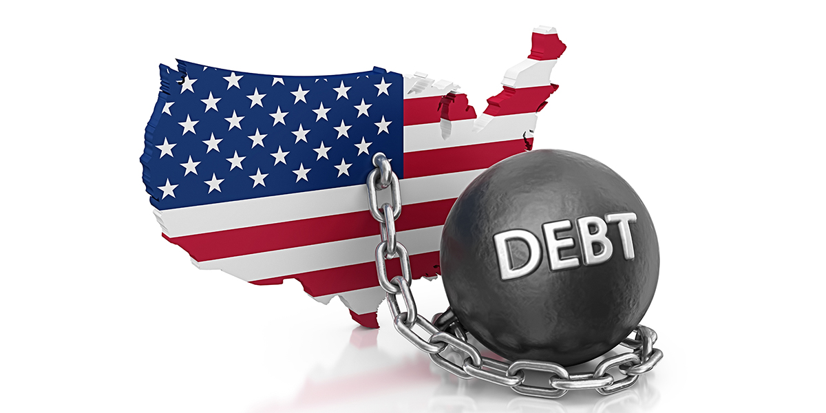 Debt ball and chain locked to the United States