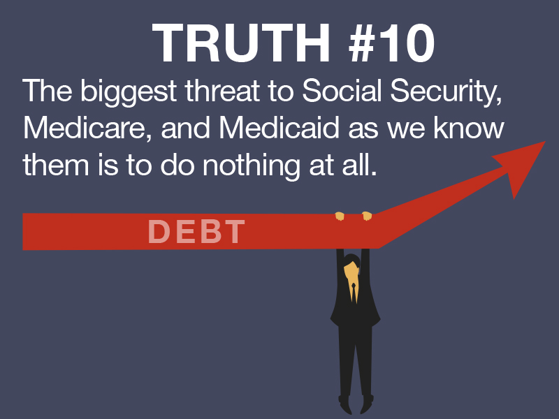 Truth #10: The biggest threat imaginable to Medicare or Social Security as we know them will be if we do nothing at all.