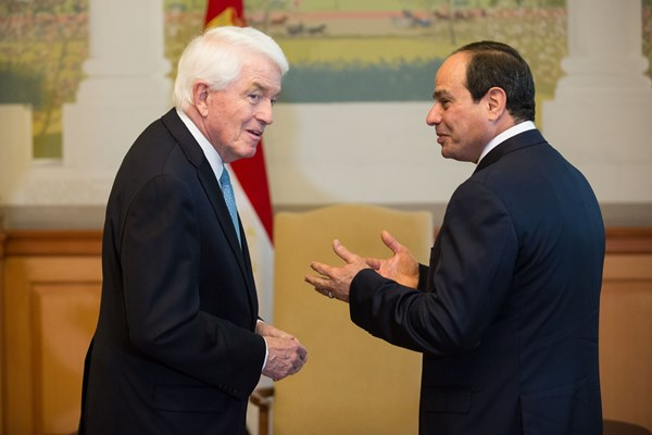 Tom Donohue and President Abdel Fattah el-Sisi