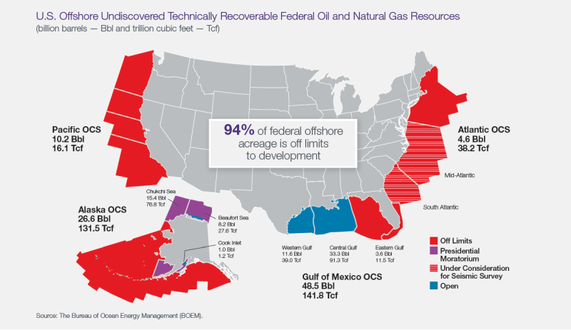Map of U.S. offshore oil and natural gas resources