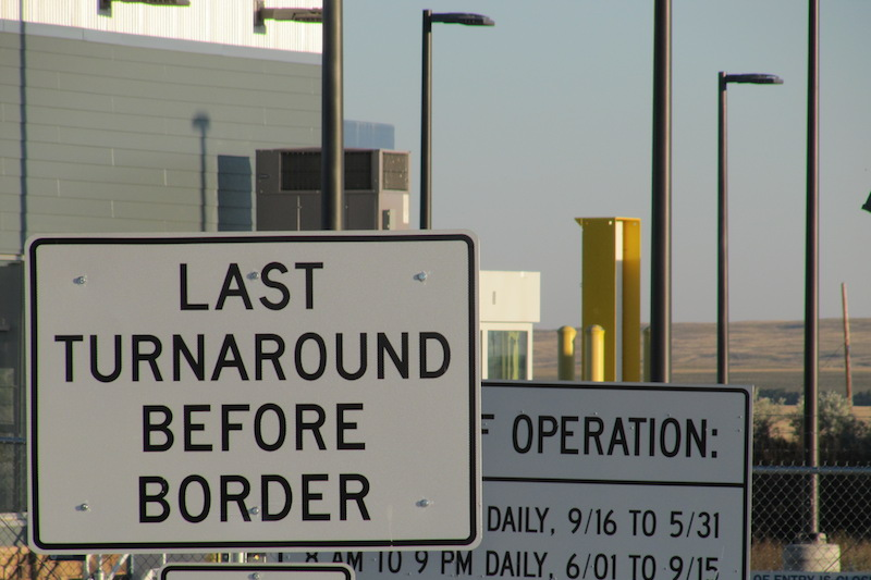 U.S. -Canada border crossing at Morgan, Montana