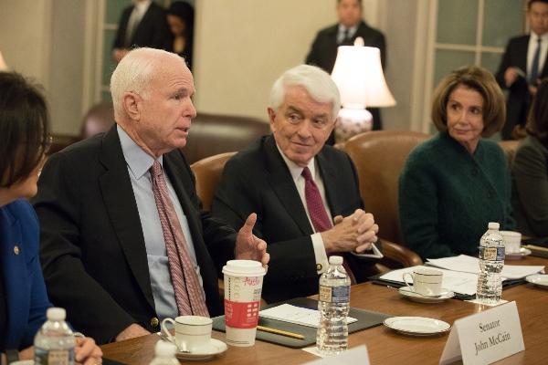 John McCain, Tom Donohue, and Nancy Pelosi at the U.S. Chamber