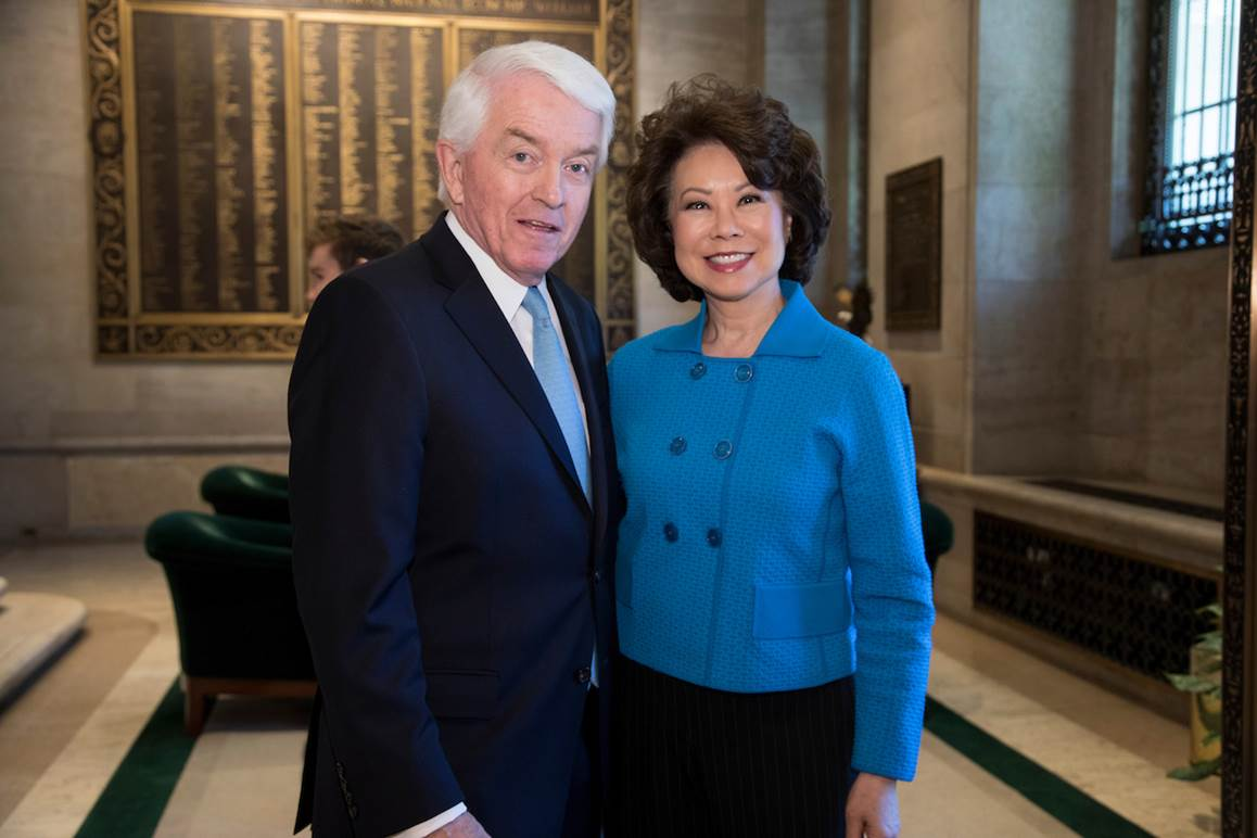Tom Donohue and Elaine Chao