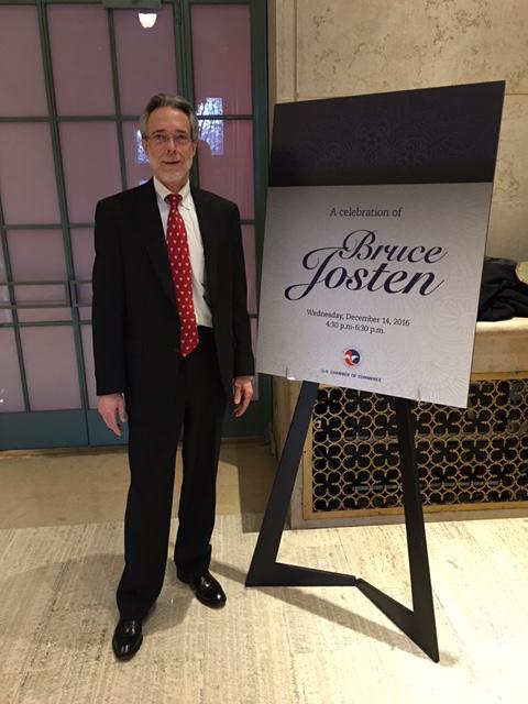 Bruce Josten bids farewell to the Chamber