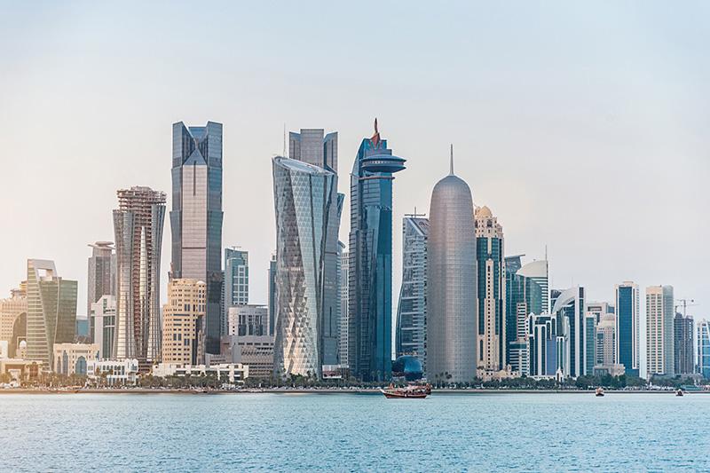 Doha, Qatar skyline.