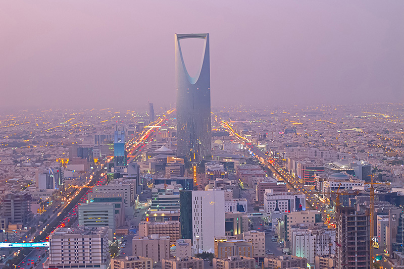Riyadh, Saudi Arabia skyline.