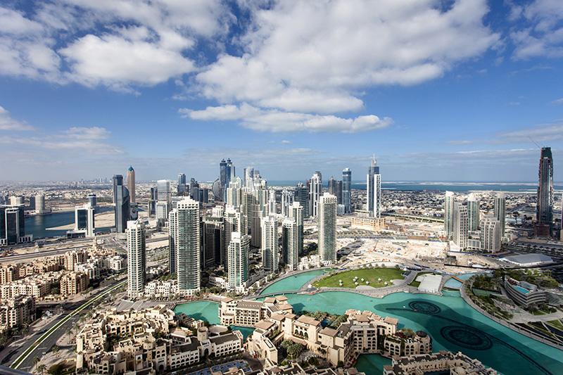 Skyline of Dubai, United Arab Emarites.