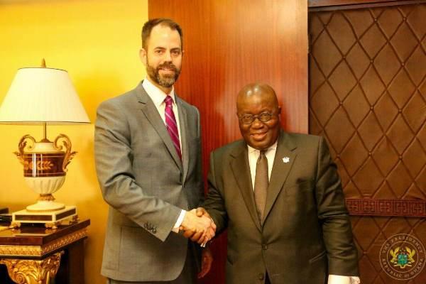 Scott Eisner and President Nana Akufo-Addo