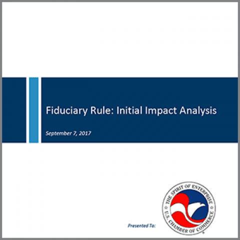 Cover image of the Fiduciary Rule Impact