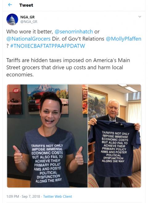 NGA tariff T shirt