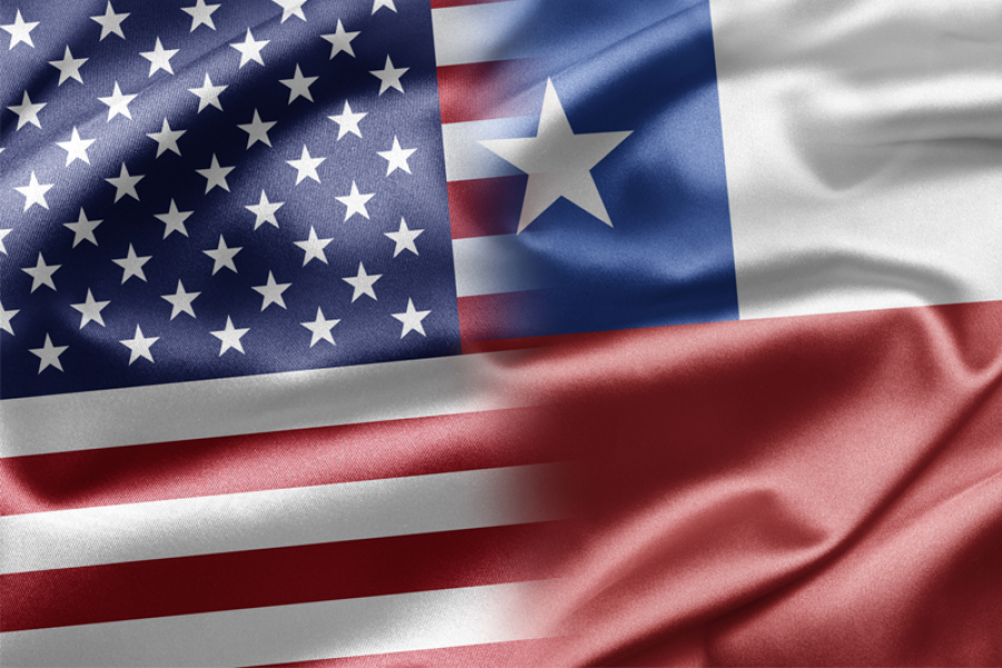 United States and Chile flags