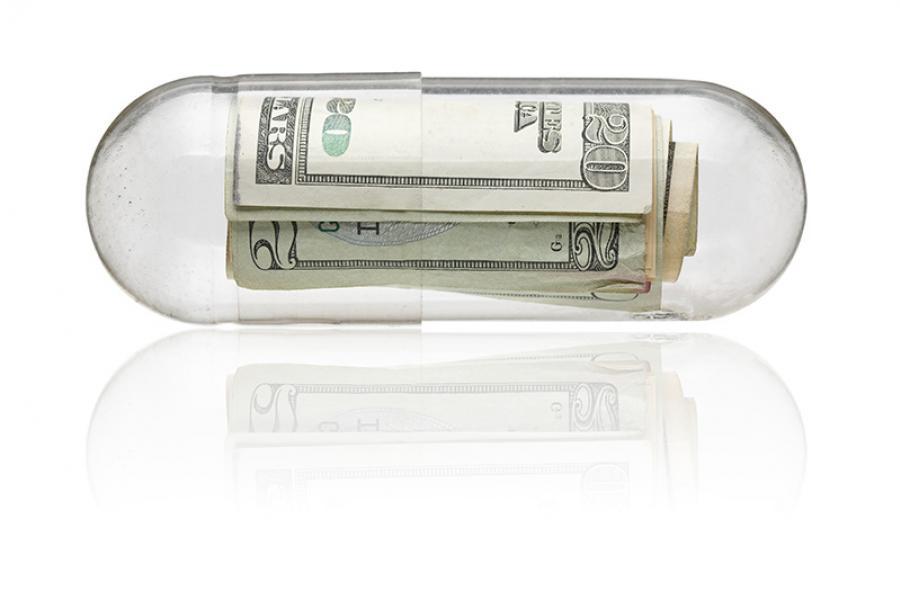 $20 bills inside a pill.