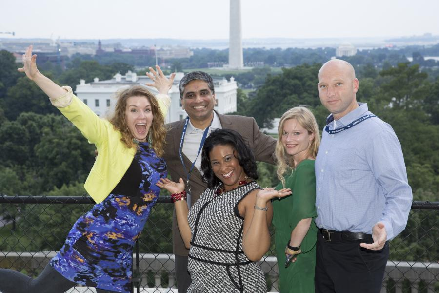 2015 Small Business Summit photo on Chamber roof