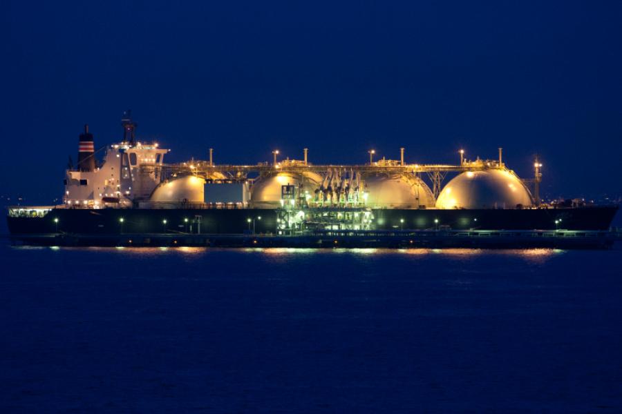 Liquefied natural gas (LNG) tanker ship