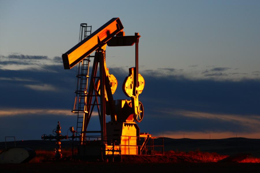 Oil pump jack in North Dakota.