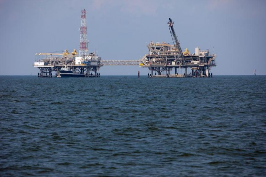 Oil rigs off Alabama's coast.