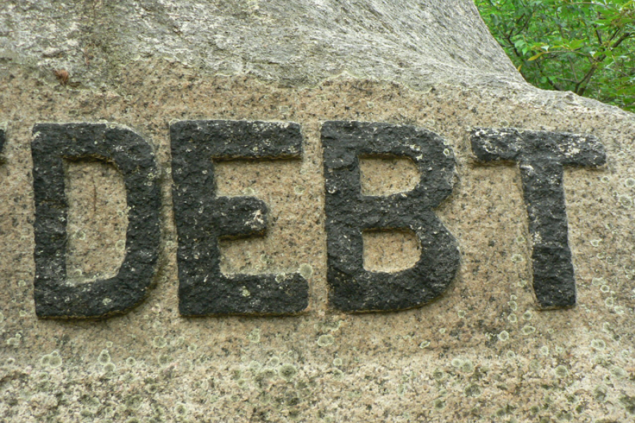 Debt on rock