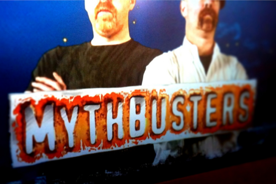 Mythbusters television show screen shot.