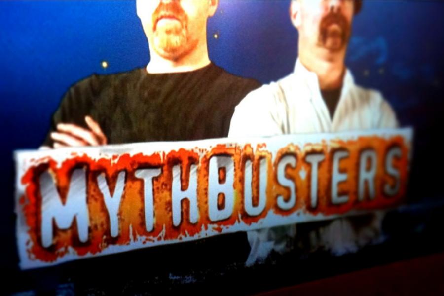 Mythbusters television show screen shot.