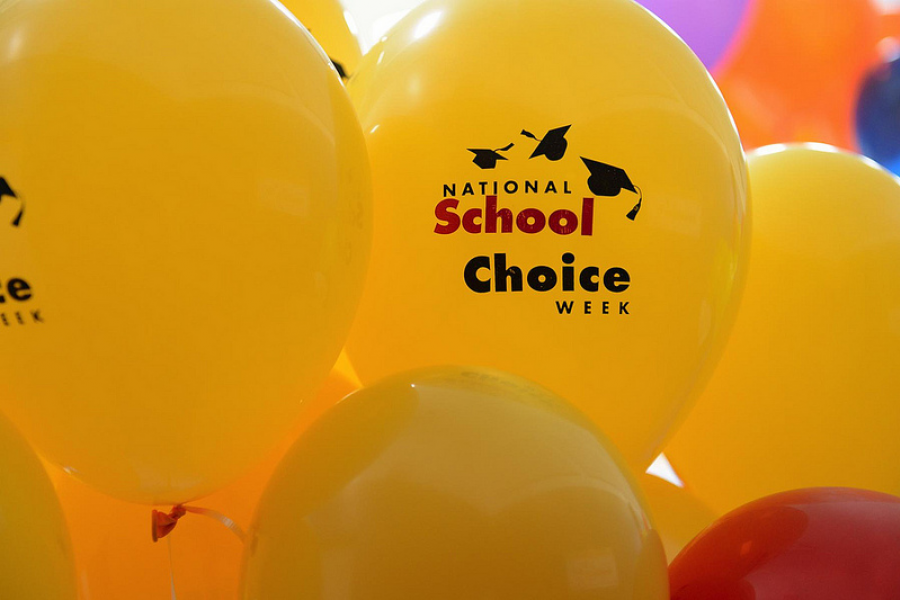 National School Choice Week balloons