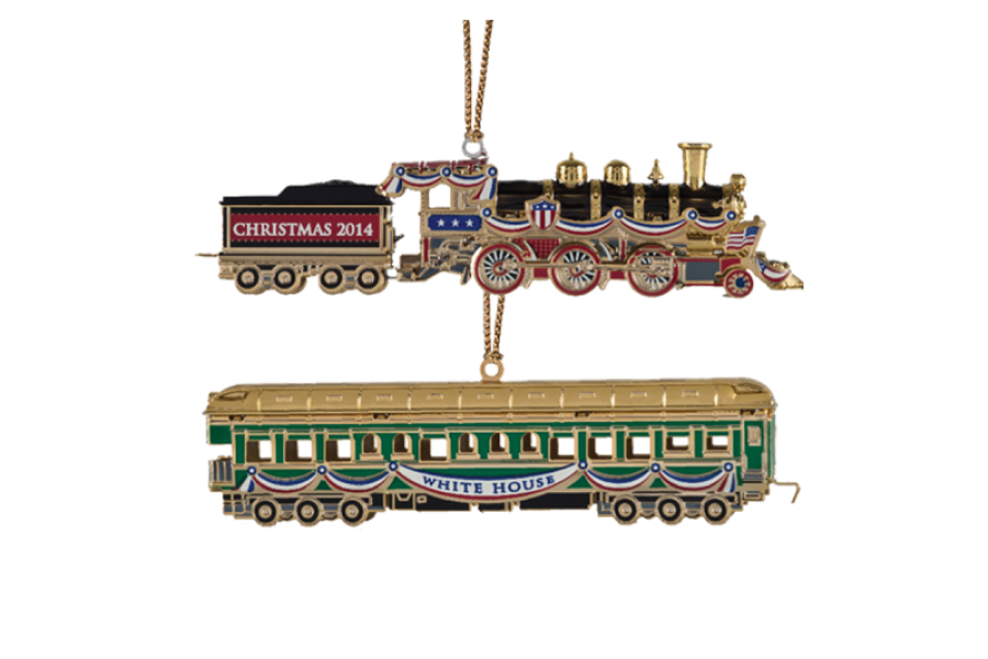 2014 white house christmas ornament the white house historical - Irony Alert Coal Fired Train Featured On White House