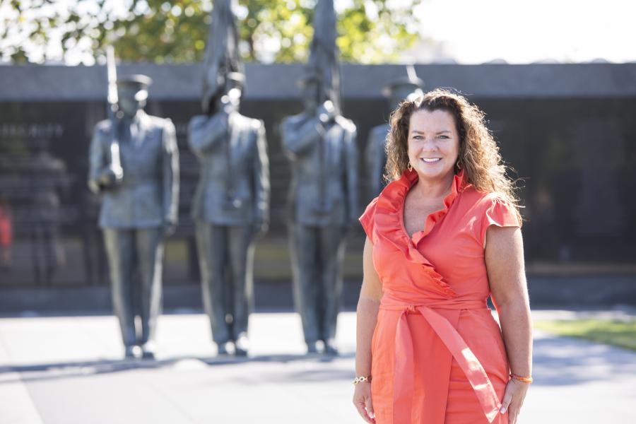 Ann Beauchesne, U.S. Chamber senior vice president of National Security and Preparedness at the Air Force Memorial.