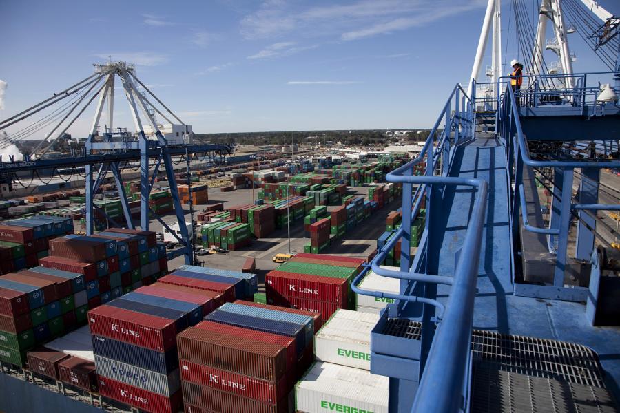 Cargo at the Port of Charleston, S.C.