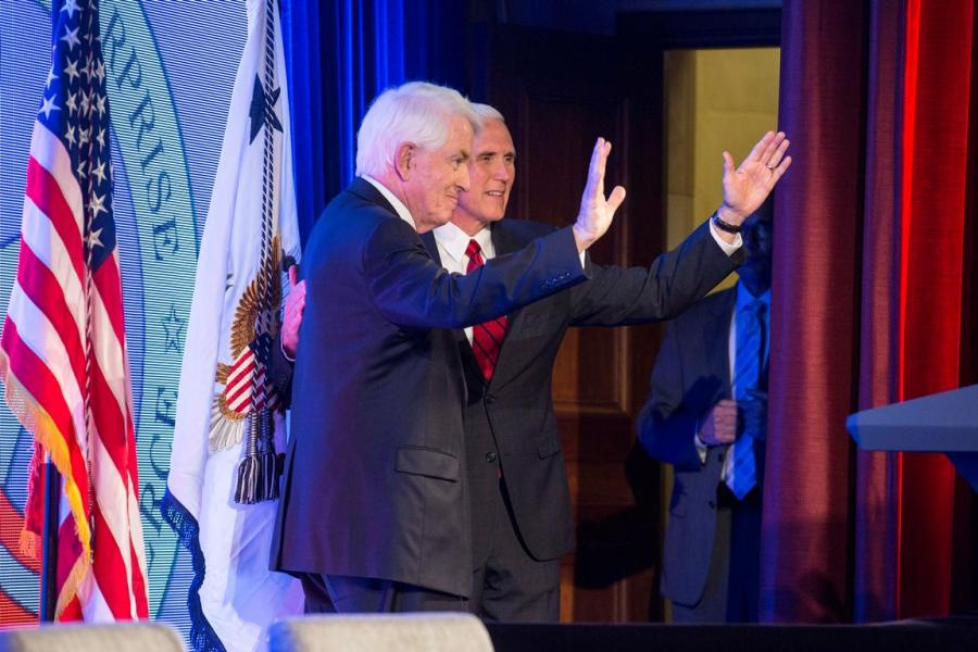 Tom Donohue and Mike Pence