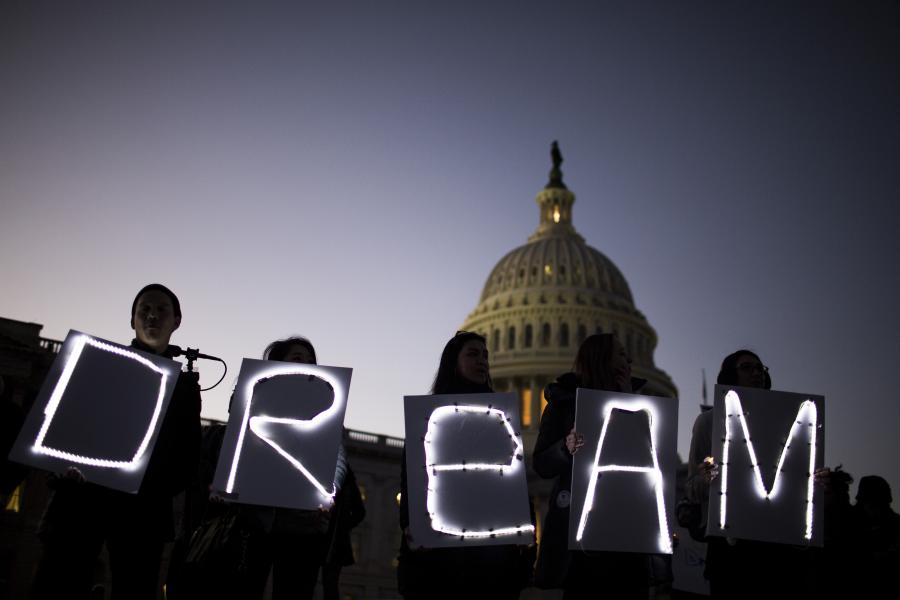 Dream sign in front of the Capitol.