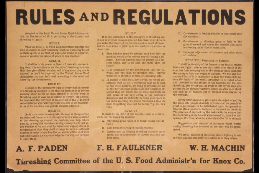 Sign: Rules and Regulations