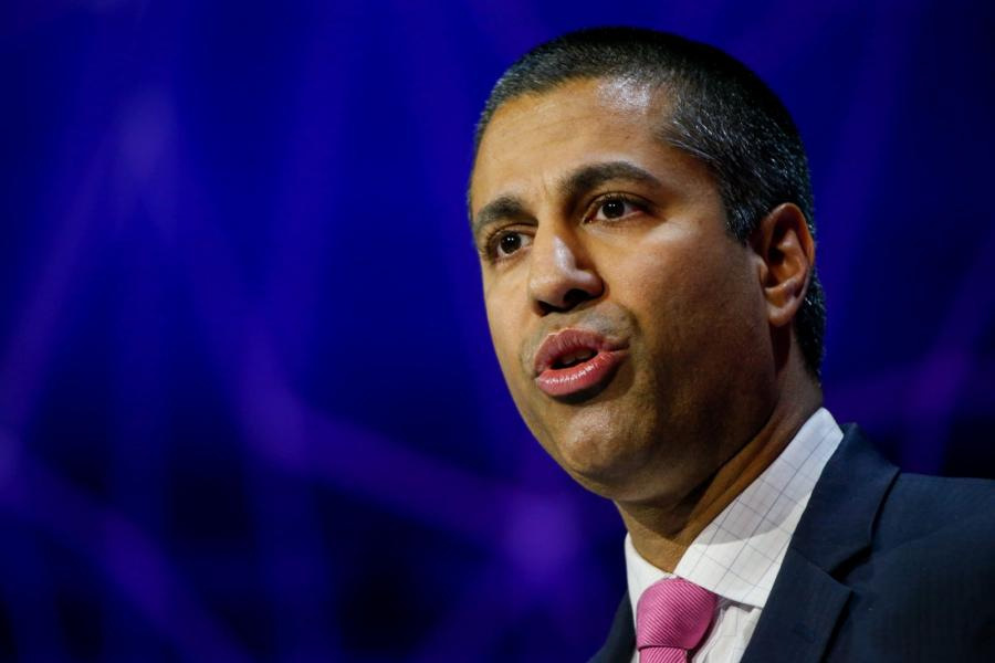 Ajit Pai, chairman of the Federal Communications Commission, speaks at Mobile World.