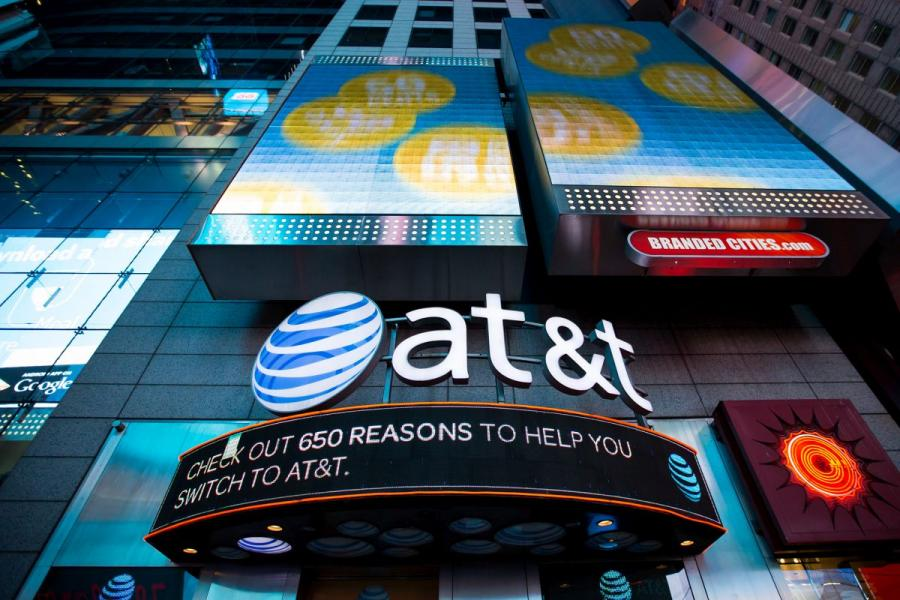 AT&T's store in Time Square in New York City.
