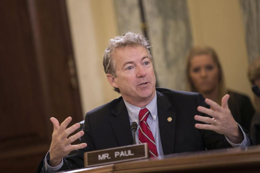 Senator Rand Paul (R-KY) at a Senate Small Business Committee hearing.
