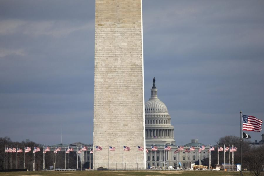 The Washington Monument and U.S. Capitol Building in Washington, D.C.