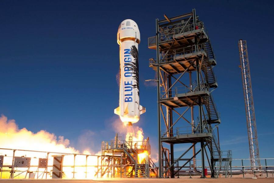 Blue Origin's New Shepard booster.