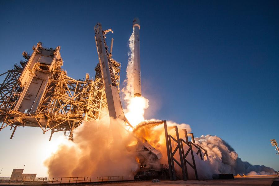 SpaceX's Falcon 9 rocket launch for the Inmarsat-5 F4 satellite mission. Photo credit: SpaceX.