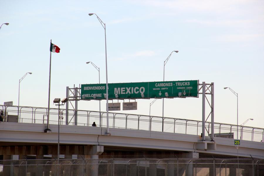U.S.-Mexico border near El Paso, Texas.