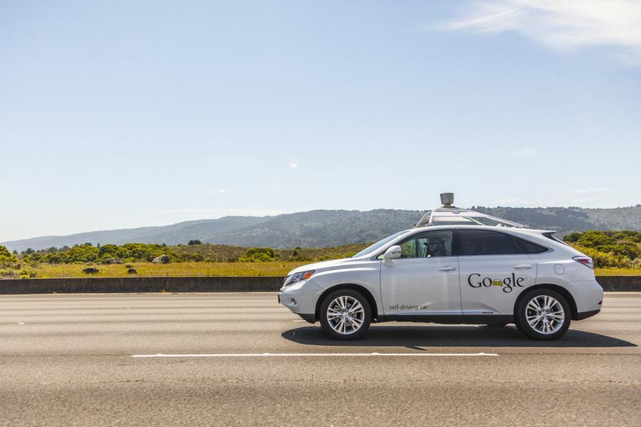 Google self-driving car on California Highway 280