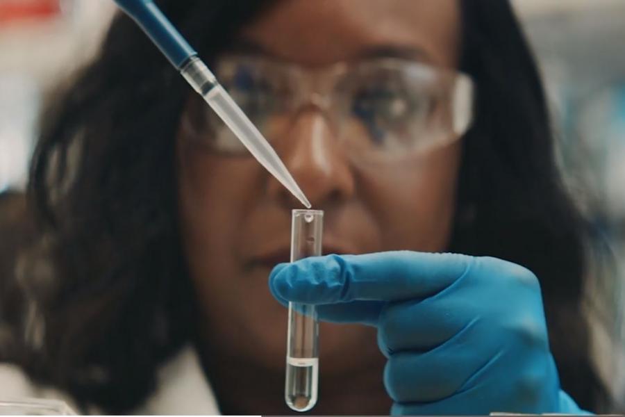 Vaccine test tube