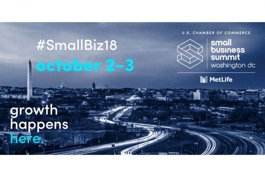 2018 U.S. Chamber of Commerce Small Business Summit: October 2-3.