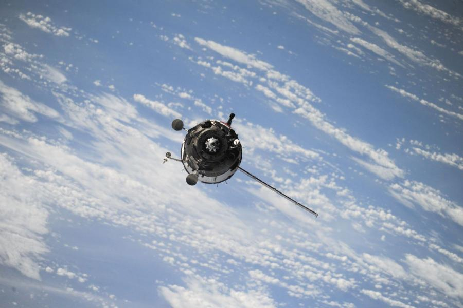 Satellite in orbit.