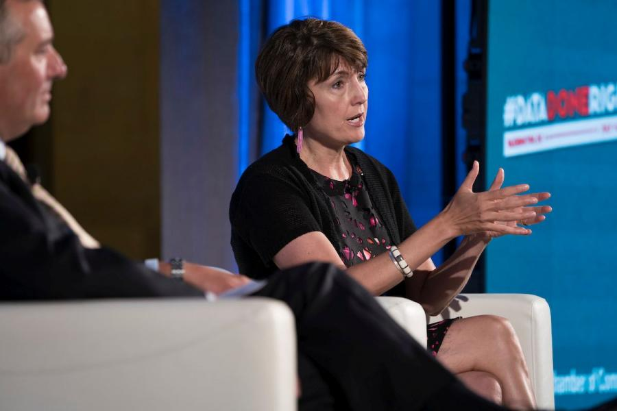 Rep. McMorris Rodgers (R-WA) discusses the need for a national data privacy standard at the U.S. Chamber.