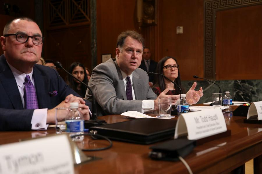 Ed Mortimer, U.S. Chamber executive director for Transportation Infrastructure, testifies before a Senate Appropriations subcommittee.