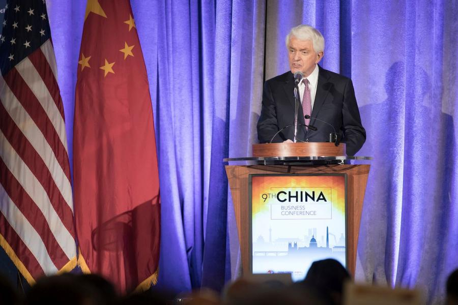 U.S. Chamber President and CEO Tom Donohue speaks at the 9th China Business Conference.