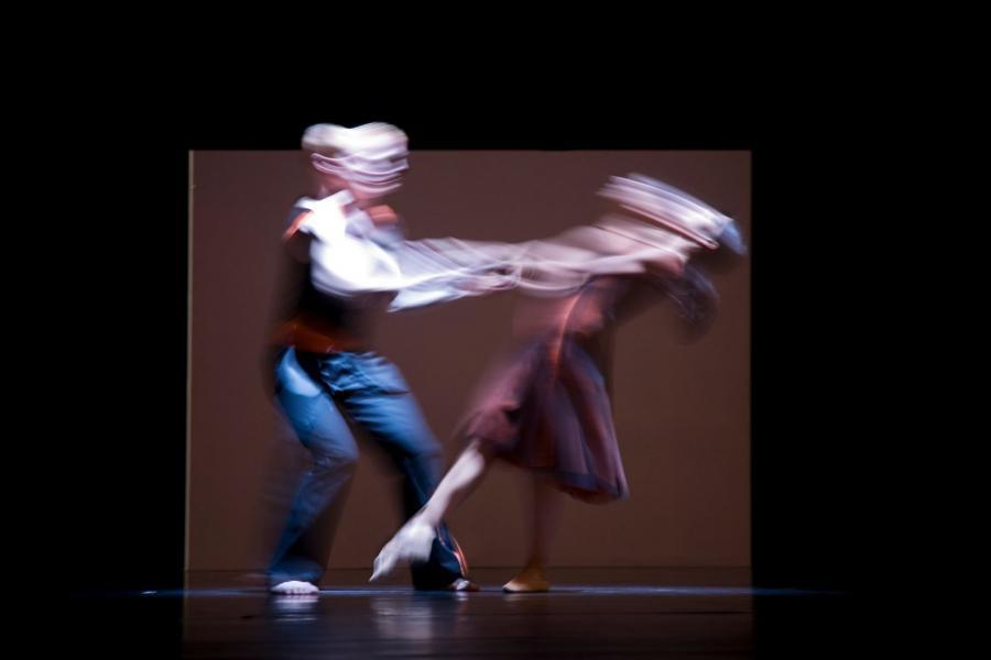 Blurred ballet dancers