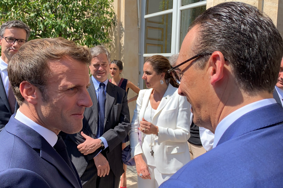 US Chamber Delegation participates in the B7 Summit with President Macron, July 3, 2019