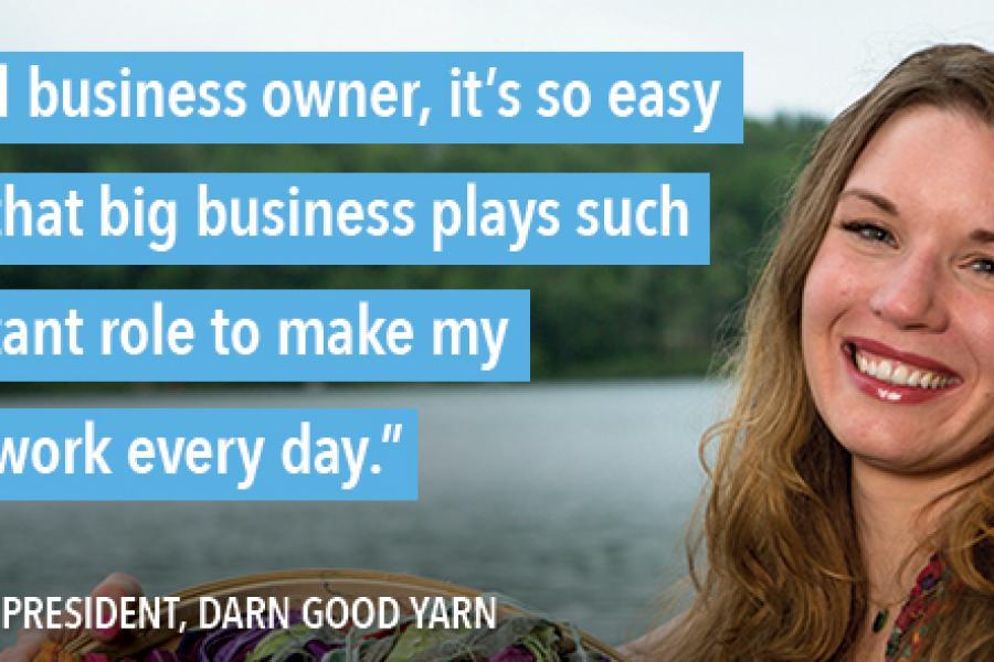 Darn Good Yarn quote