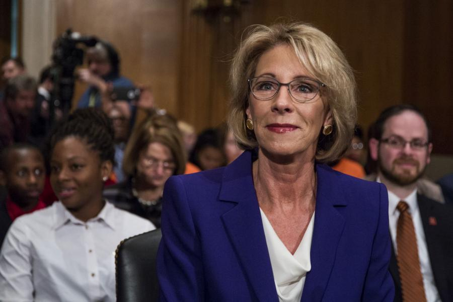 Betsy DeVos, secretary of education nominee for President Donald Trump.