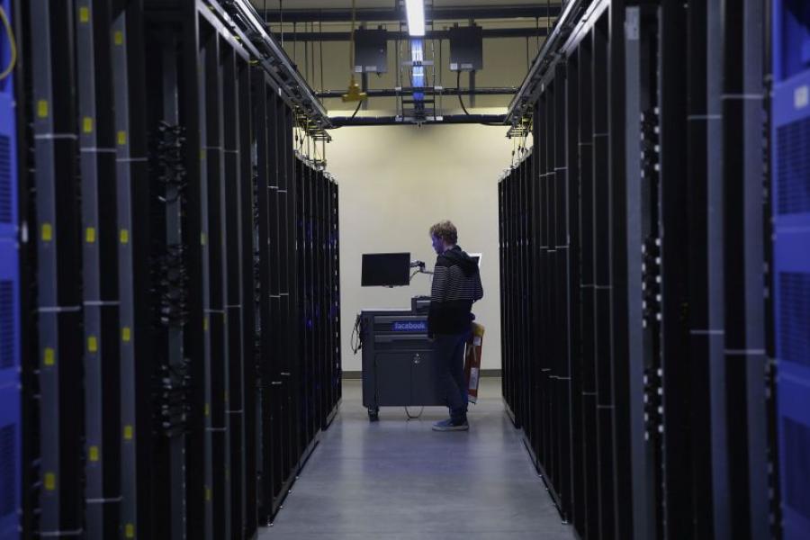 Web servers inside a Facebook data center in Prineville, Ore.