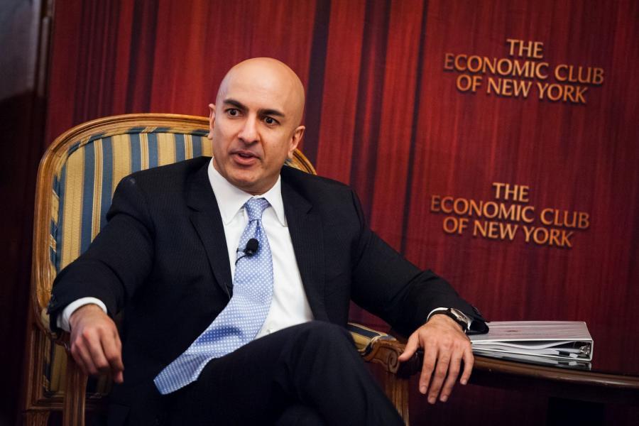 Minneapolis Federal Reserve President Neel Kashkari at the Economic Club of New York.